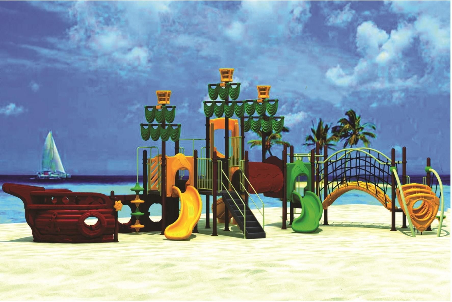 Картинка детская площадка в стиле «корабль» от компании «Детские городки»