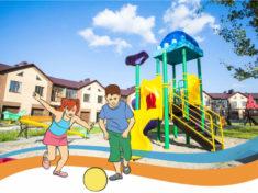 Детские площадки во двор дома