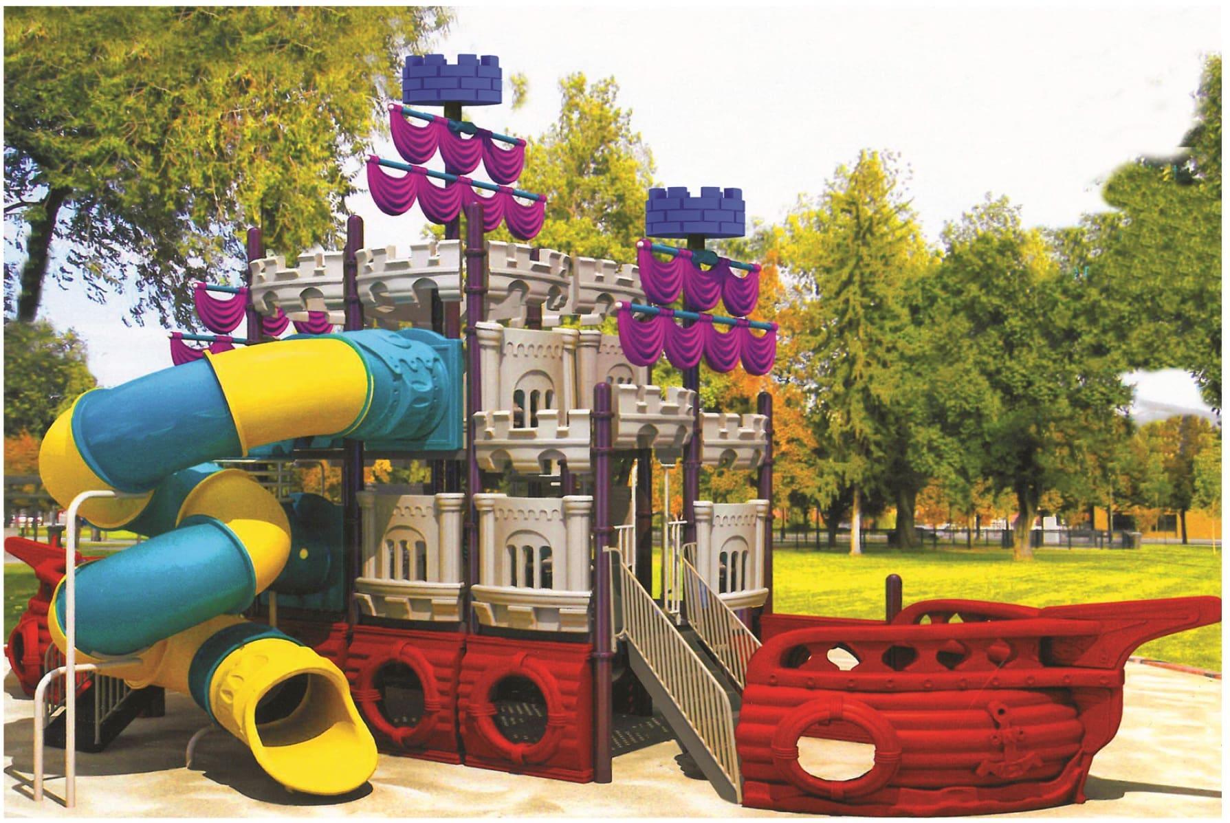 Картинка площадки для детей в стиле «корабль» в Санкт-Петербурге
