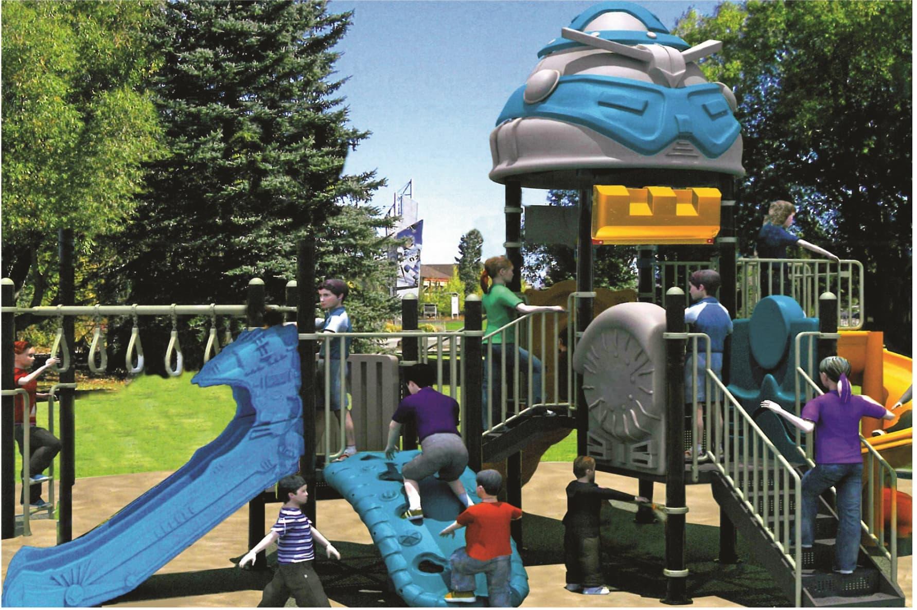На картинке детский комплекс из каталога сайта Dgorodki.ru