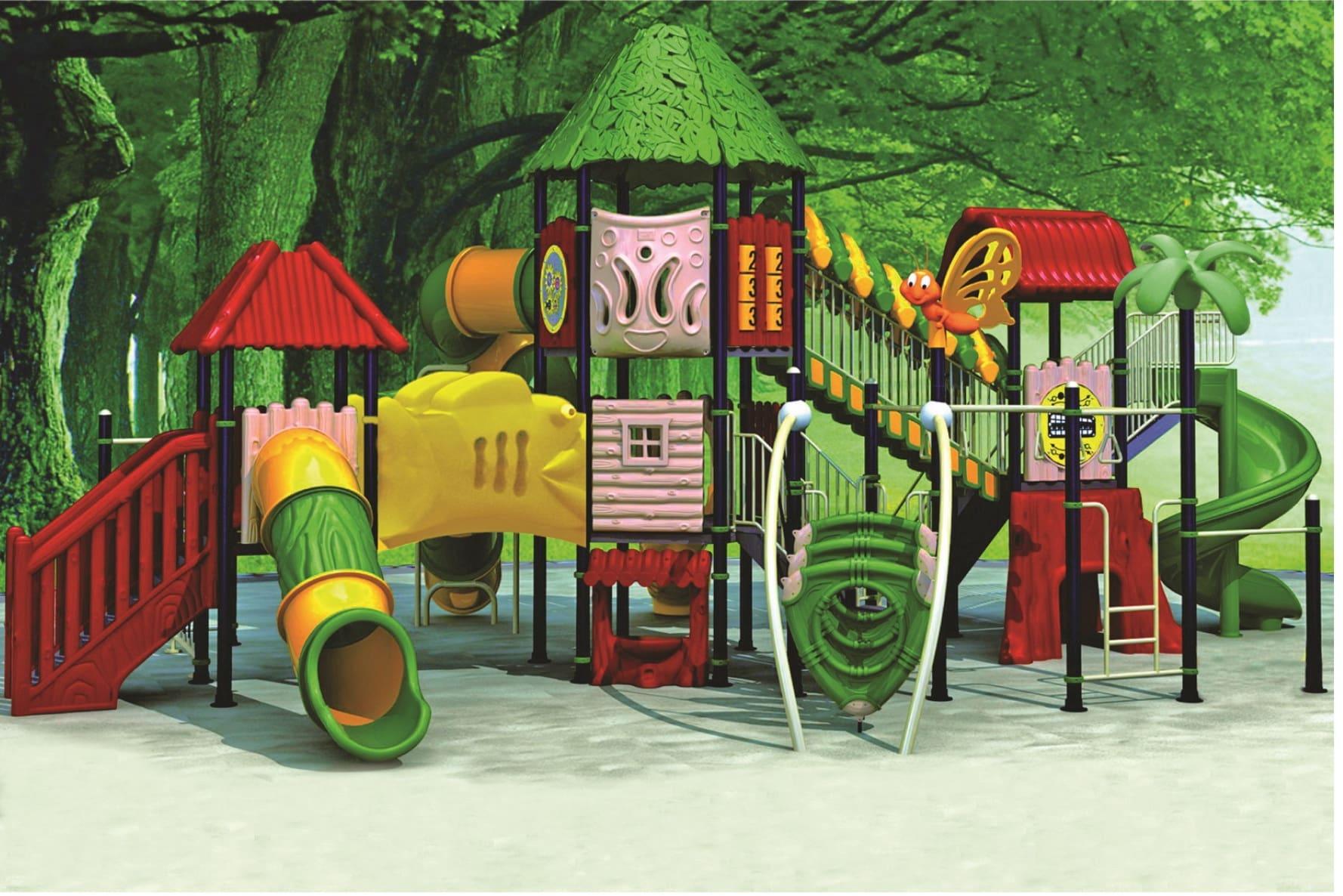 Фото детской пластиковой площадки