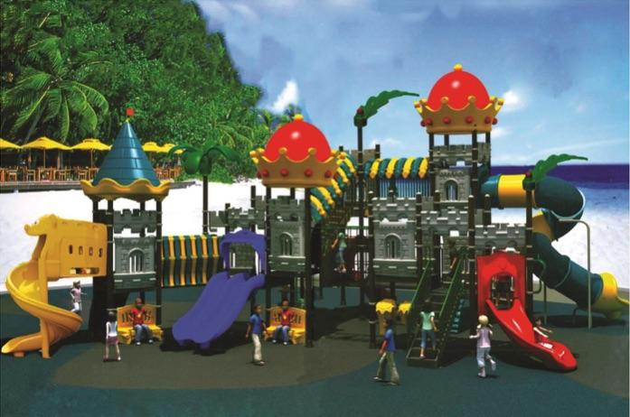 На картинке дизайн детских площадок «Замок» от Dgorodki.ru