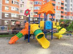 Детская площадка с игровым комплексом PS-101 и качелями